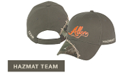 Barb Wire Camo ORANGE Logo Hat (HAZ or Conf Space)