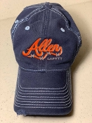 2019/2020 Blue Distressed Orange Logo Cap